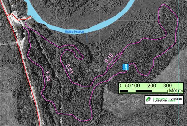 Carte du sentier multifontionnel